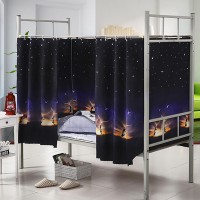 Privacy Bed Cover Easy Foldable Privacy Bed Tent Curtains - Black