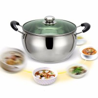 Stainless Steel High Quality Kitchen Cooking Pots - Silver