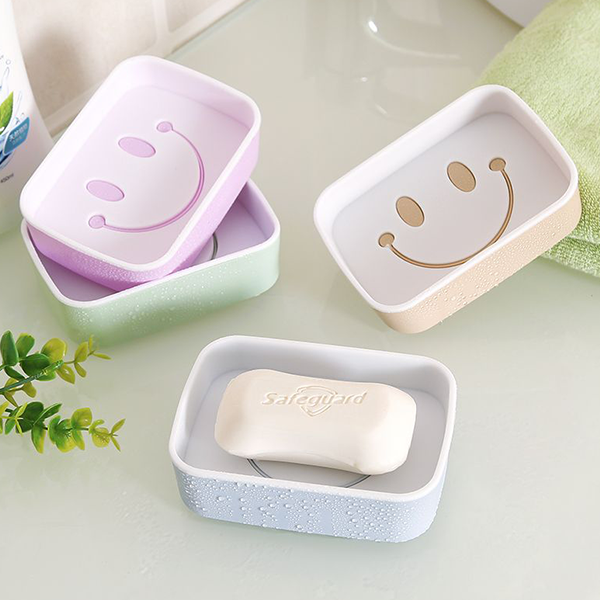 Smiley Cut Out Colorful Soap Dish - Different Colors