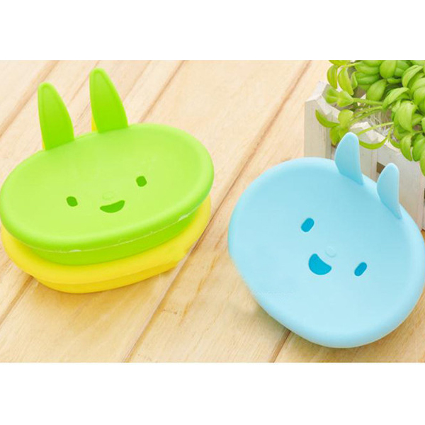 Rabbit Shaped Colorful Soap Dish - Different Colors