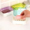 Top Covered Quality Plastic Soap Dish - One Piece