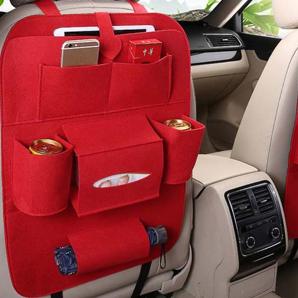 Portable Multi Storage Car Seat Hanger - Red