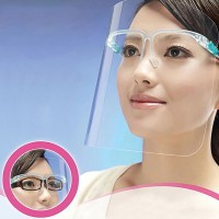 High Quality Eye Wear Creative Face Anti Splash Shield - White