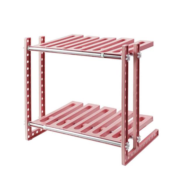 Multi Purpose Two Layer Storage Rack - Pink