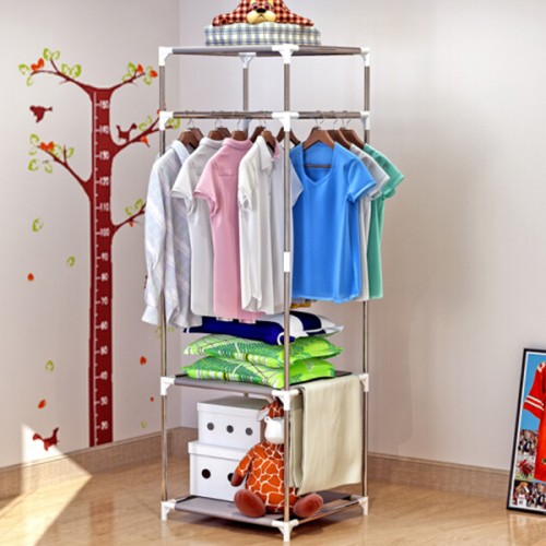 Easy Fixable Folding Rail For Clothes - Grey