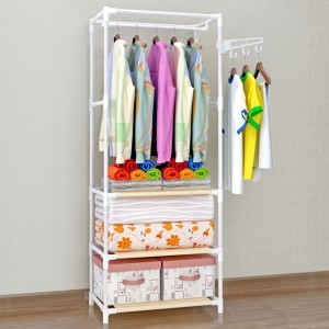 Easy Fixable Folding Rail For Clothes - 3 Partition