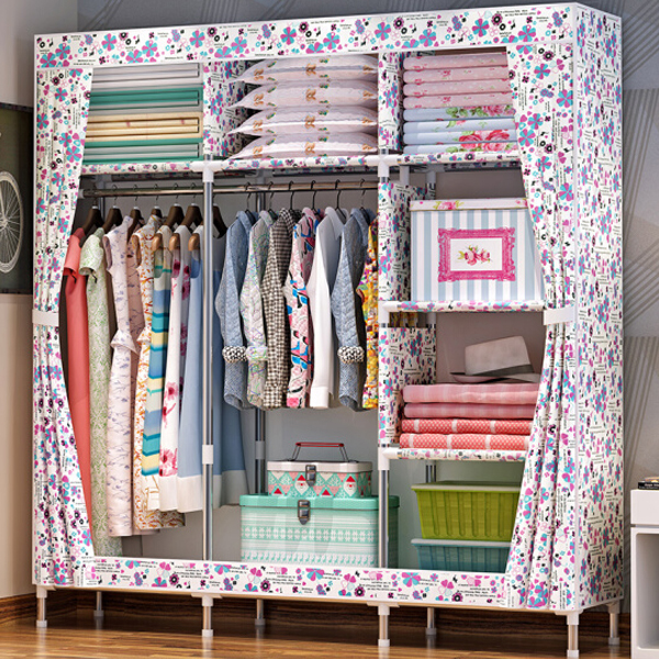 Floral Prints Multi Sided Large Wardrobe