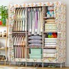 Printed Eight Partition Large Canvas Wardrobe - Floral Prints