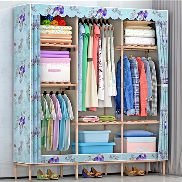 Birdy Prints Sky Blue Luxury Large Wardrobe