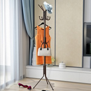 Quality Multi Sided Floor Hanger - Coffee