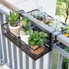 Black Railing Plants Pot Hanger