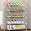 Five Layer Quality Rail Shoe Rack - Grey