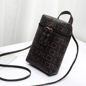 Zipper Closure Small Vertical Shoulder Bags - Printed