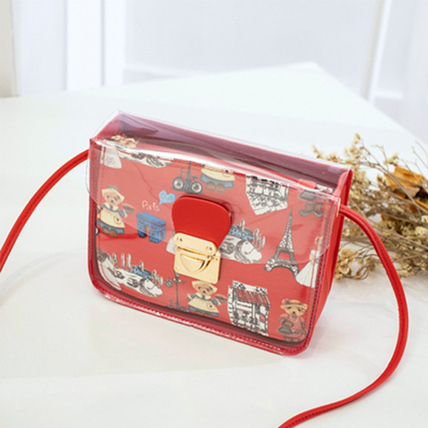 Jelly Flap Digital Printed Messenger Bags - Red