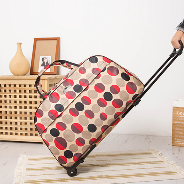 Polka Prints Smart Portable Trolly Traveller Bags