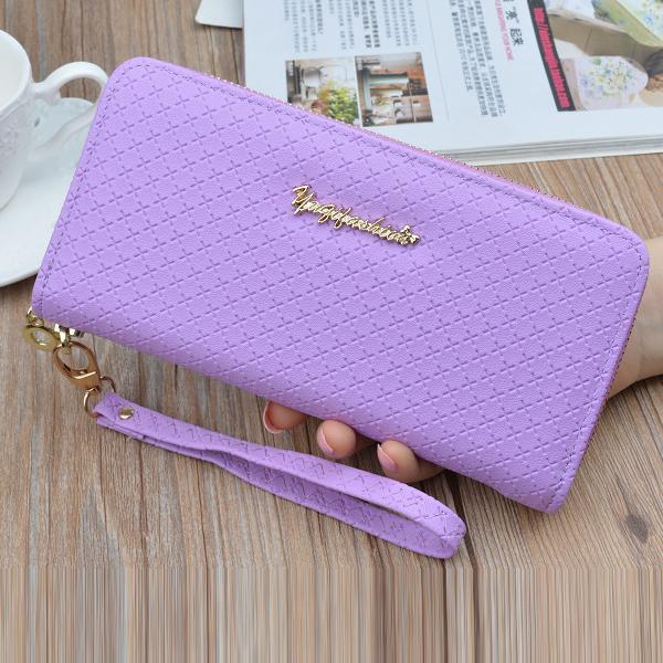 Luxury High Quality Money Wristlet Wallets - Purple