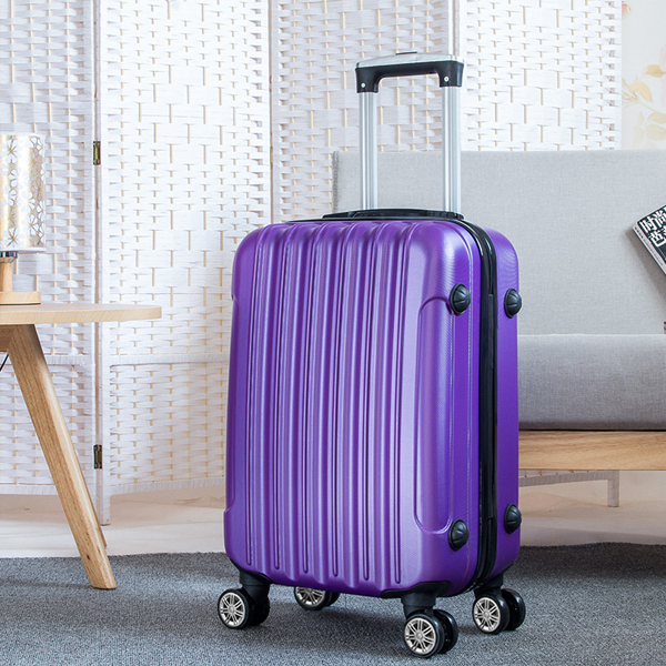 Protective Travel Hand Carry Hard Case Luggage - Purple