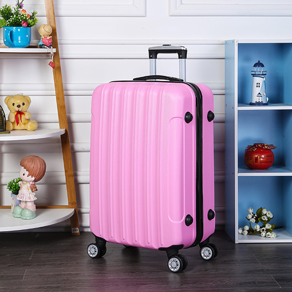 Protective Travel Hand Carry Hard Case Luggage - Pink