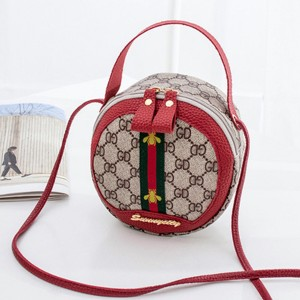 Designers Zipper Closure Round Shoulder Bags - Red