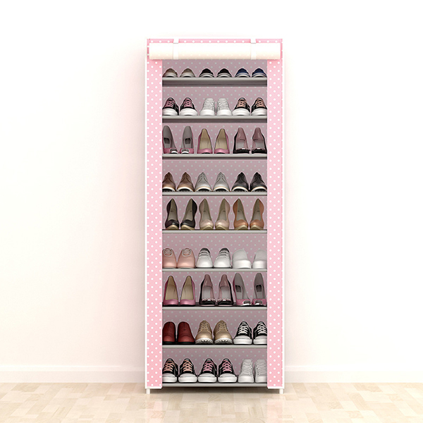 Nine Layered Digital Printed Canvas Shoe Rack