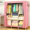 Wide Storage Canvas Covered Wardrobe - Polka Dots