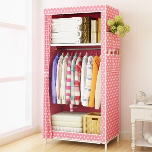 Printed Multi Partitioned Canvas Wardrobe