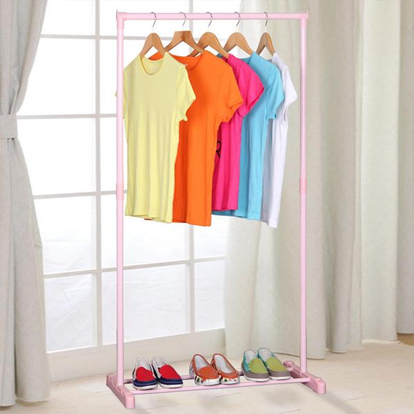 Multi Purpose Pink Pole Floor Hanger