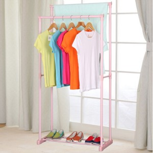 Double Stand Pink Pole Floor Hanger