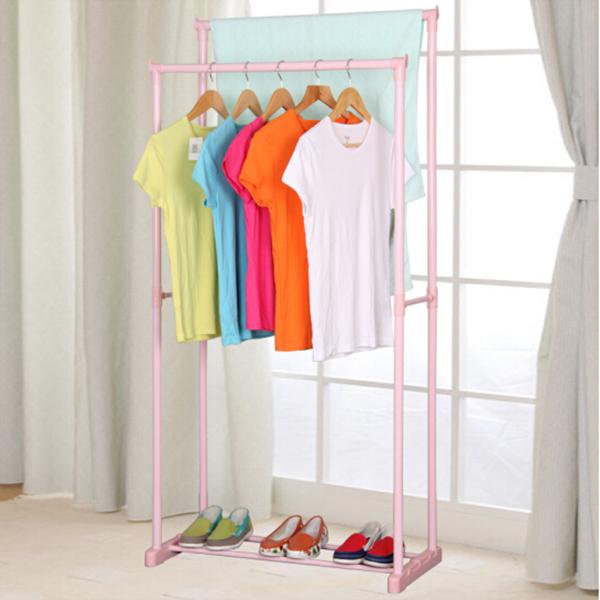 Double Stand Pink Pole Floor Hanger