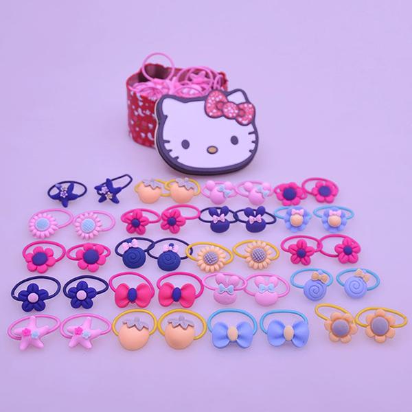 40 Pieces Multi Design Hair Bands Set