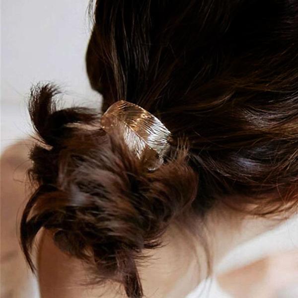 Mold Leaf Golden Elastic Hair Band