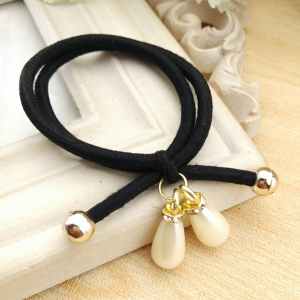 Beads Hanging Elastic Hair Band