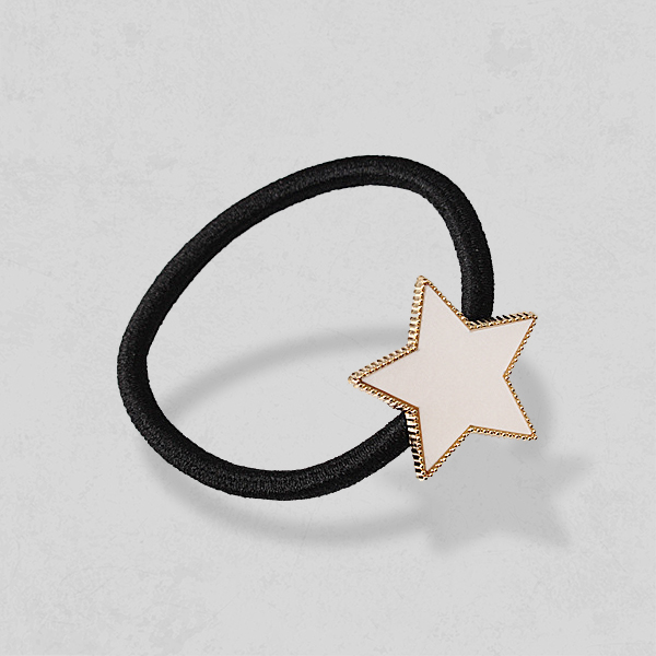 Star Patched Elastic Hair Band
