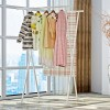 Double Stand White Dress Organizing Rack