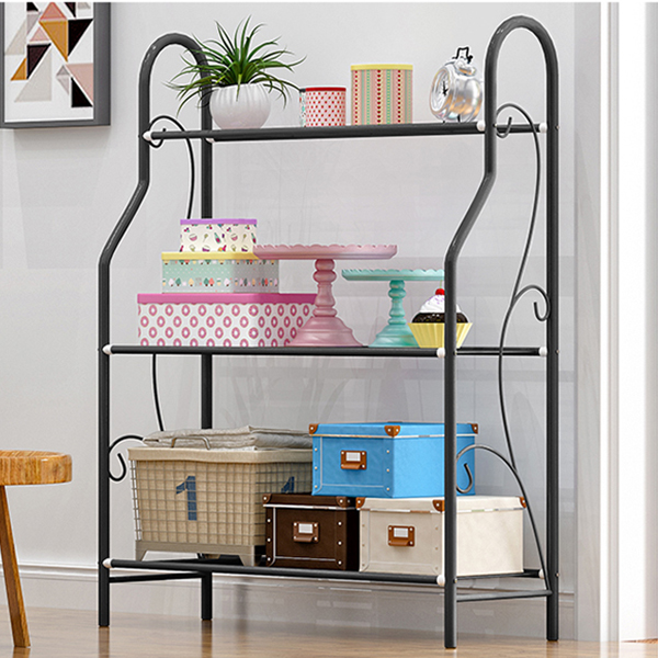 Multi Purpose Three Layer Black Rack