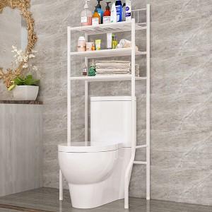 Multipurpose Smart Bathroom Metal Rack - White