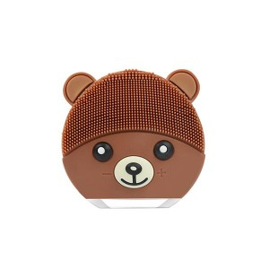 Rechargeable Facial Cleanser Silicone Massage Brush - Brown