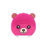 Rechargeable Facial Cleanser Silicone Massage Brush - Hot Pink