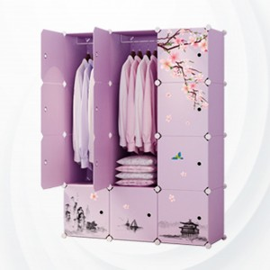Partition Floral Decorative Wide Space Wardrobe - DIY Stickers