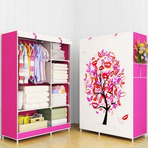 Printed Lips Tree High Quality Bedroom Wardrobe