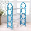 Four Layered Creative Plastic Shoe Rack - Blue
