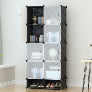 Eight Partition Home Essentials Wardrobe With Shoe Rack