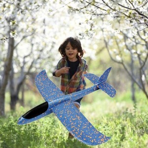 Glider Outdoor Toys Hand Throw Small Plane - Blue