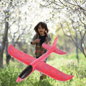 Glider Outdoor Toys Hand Throw Small Plane - Red