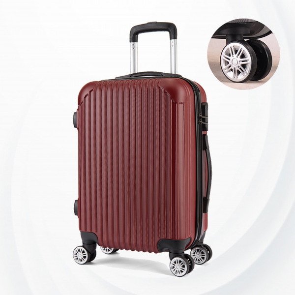 Protective Hard Case Traveler Hand Carry Luggage - Burgundy