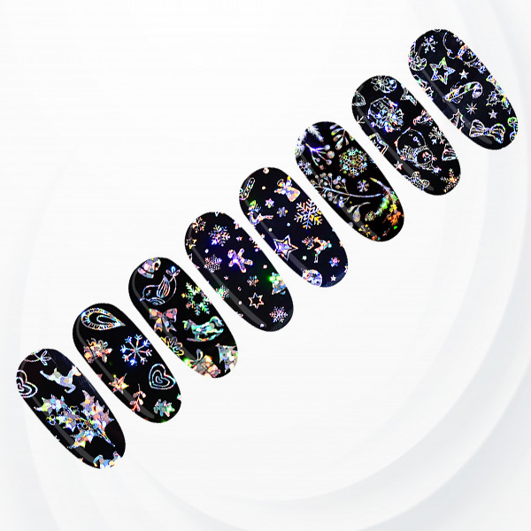 Shiny Rainbow Nail Decoration Stickers