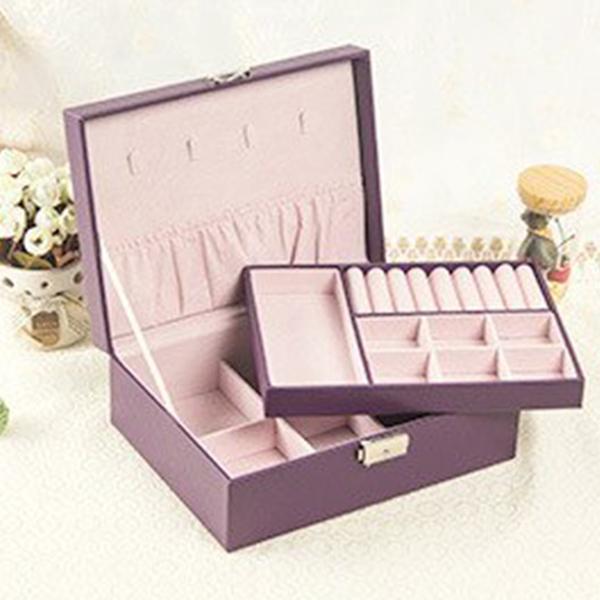 Table Organizer Jewellery Cosmetics Box - Purple