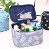 Floral Zipper Closure Cosmetics Makeup Bags - Blue