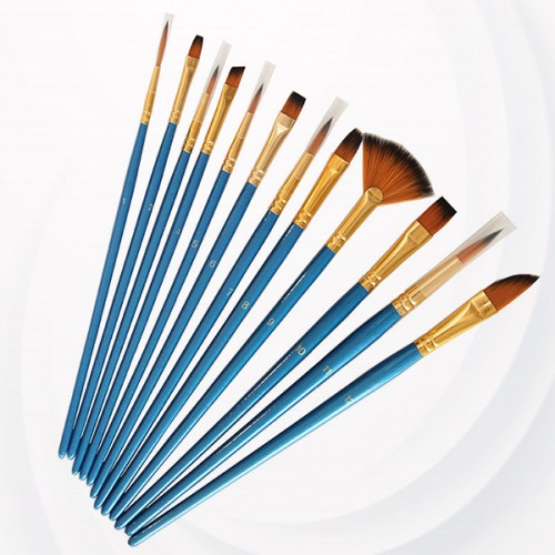 Art And Craft Painting Brushes Set - Blue
