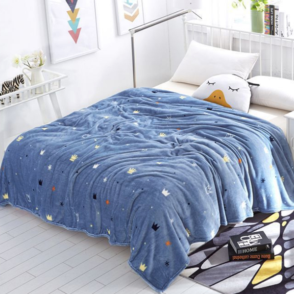 Crown Prints Silky And Colorful Thin Blanket